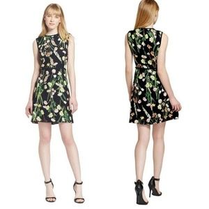 VICTORIA BEKHAM for Target Black Floral Dress MED
